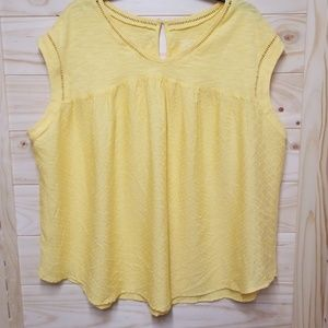 3X Yellow womens Westbound top